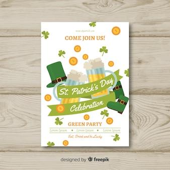 Cartaz de festa de dia da fita st patrick