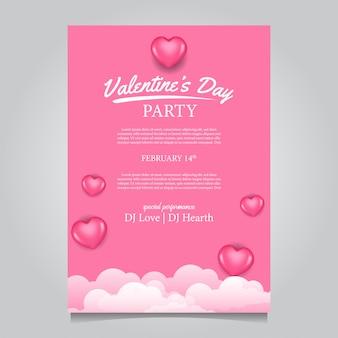 Cartaz de festa de dia dos namorados feminino