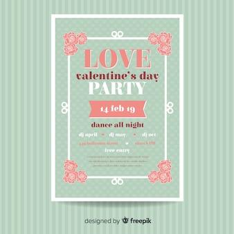 Cartaz de festa de dia dos namorados