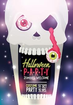 Cartaz de festa de halloween