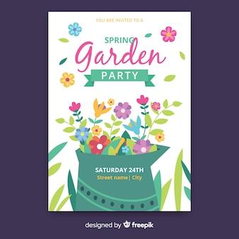 Cartaz de festa de jardim primavera