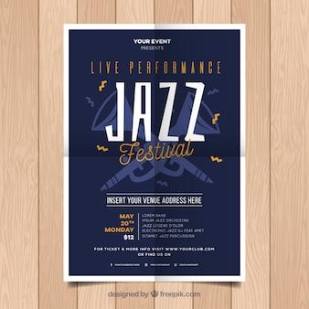 Cartaz de festa de jazz