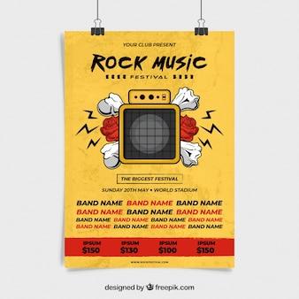 Cartaz de festa de música com câmera