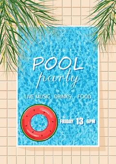 Cartaz de festa de piscina de verão