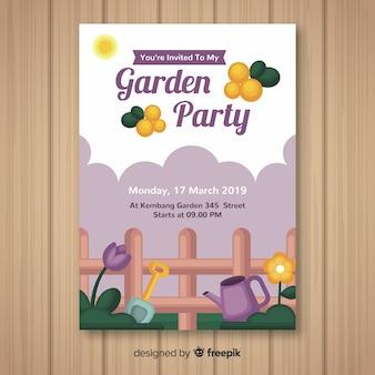 Cartaz de festa de primavera de cerca
