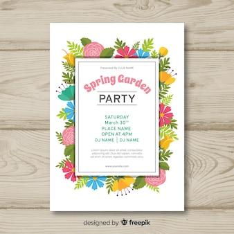 Cartaz de festa de primavera de quadro floral