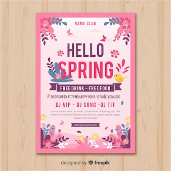 Cartaz de festa de primavera floral