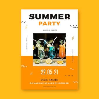 Cartaz de festa de verão com foto