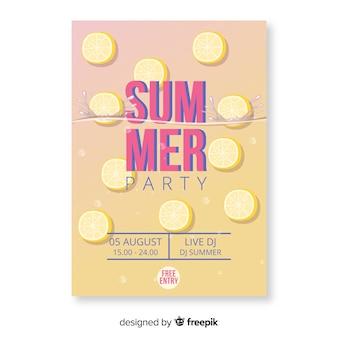 Cartaz de festa de verão gradiente