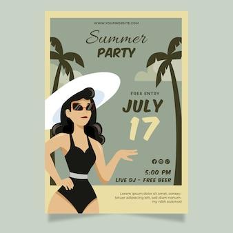 Cartaz de festa de verão vintage