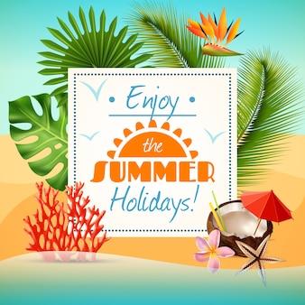 Cartaz de festa de verão