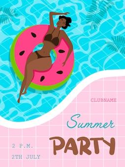 Cartaz de festa de verão.