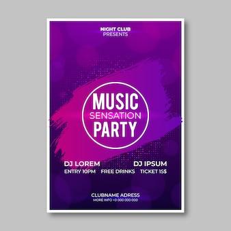 Cartaz de festa desenho abstrato