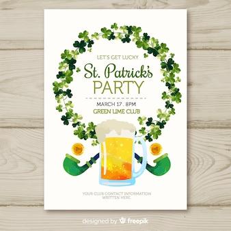 Cartaz de festa do st patrick grinalda grinalda