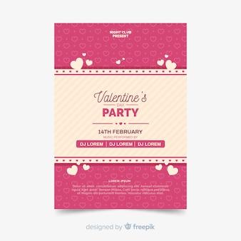 Cartaz de festa dos namorados de listras