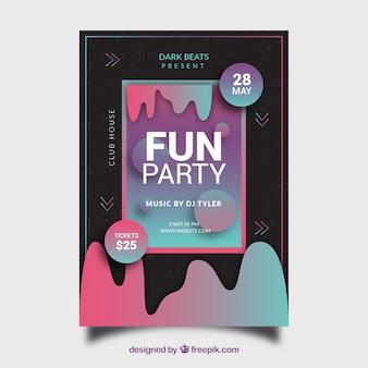 Cartaz de festa em estilo abstrato