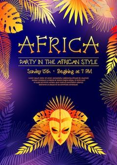 Cartaz de festa estilo africano