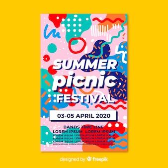 Cartaz de festa festival de música ou modelo de panfleto