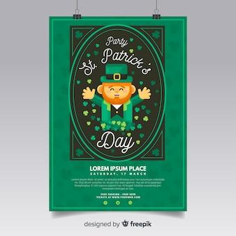 Cartaz de festa mão desenhada espírito st patrick