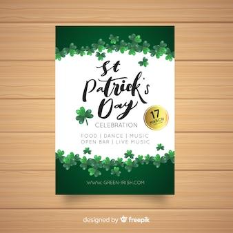 Cartaz de festa simples st patrick