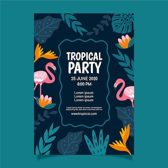 Cartaz de festa tropical