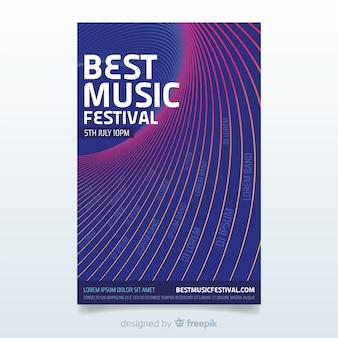 Cartaz de festival de música abstrata