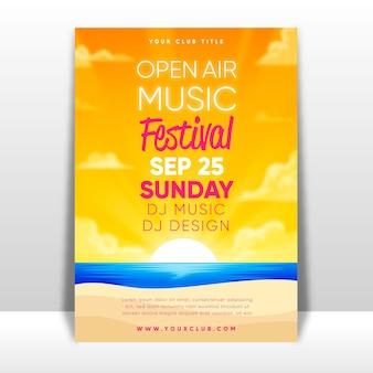 Cartaz de festival de música ao ar livre