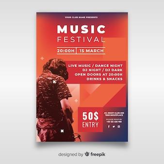 Cartaz de festival de música com foto