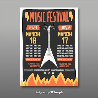 Cartaz de festival de música de guitarra