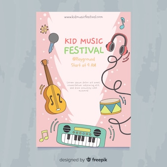 Cartaz de festival de música infantil