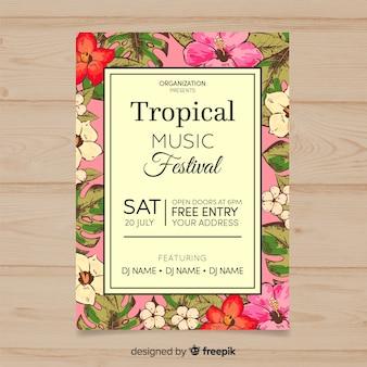 Cartaz de festival de música tropical