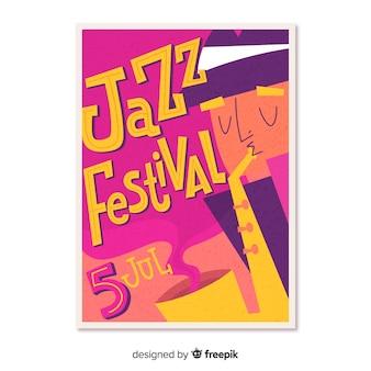 Cartaz de festivel música desenhada mão