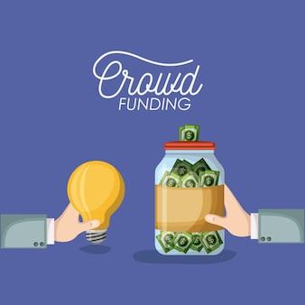 Cartaz de financiamento da multidão