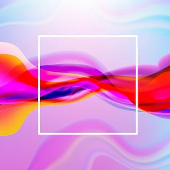 Cartaz de fluxo colorido com linha poster