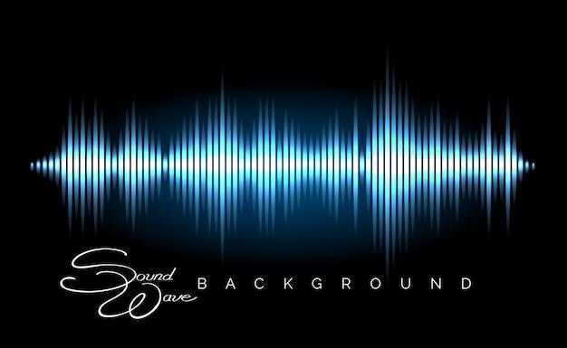 Cartaz de forma de onda de áudio estéreo