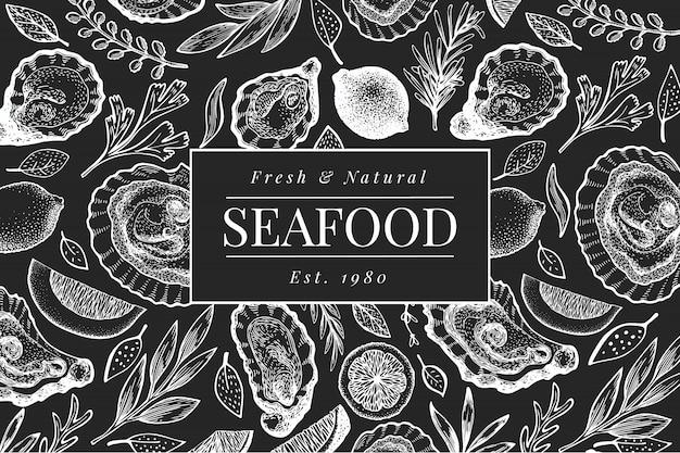 Cartaz de frutos do mar