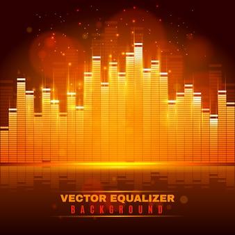 Cartaz de fundo de luz de onda equalizador