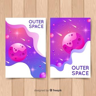 Cartaz de galáxia desenhada de mão