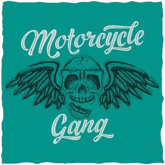 Cartaz de gangue de motocicleta