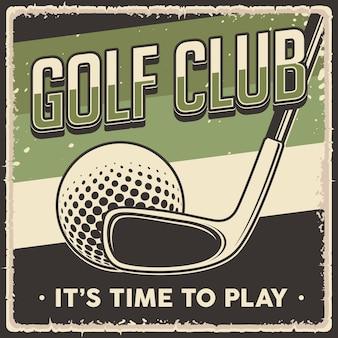 Cartaz de golfe vintage retrô
