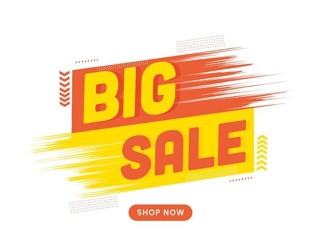 Cartaz de grande venda ou banner design para o conceito de publicidade.