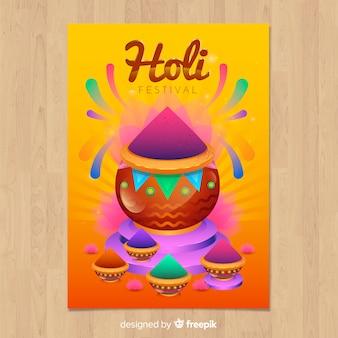 Cartaz de holi colorido