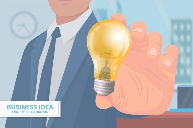 Cartaz de ilustração de conceito de ideia de negócio