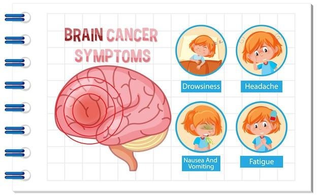 Cartaz de informações do diagrama do cérebro humano