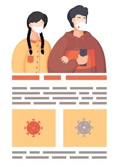 Cartaz de informações sobre a disseminação do vírus