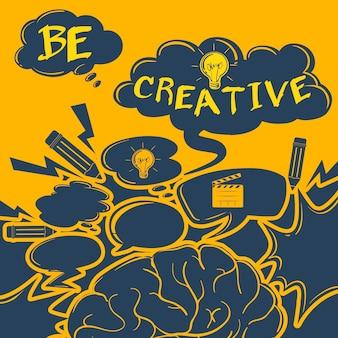 Cartaz de inspiração com imagens e texto