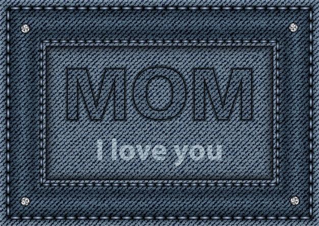 Cartaz de jeans azul para mamãe