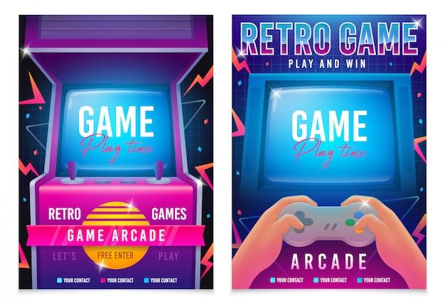 Cartaz de jogos retrô
