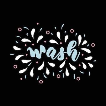 Cartaz de letras para casa de banho