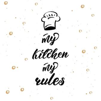 Cartaz de letras para cozinha
